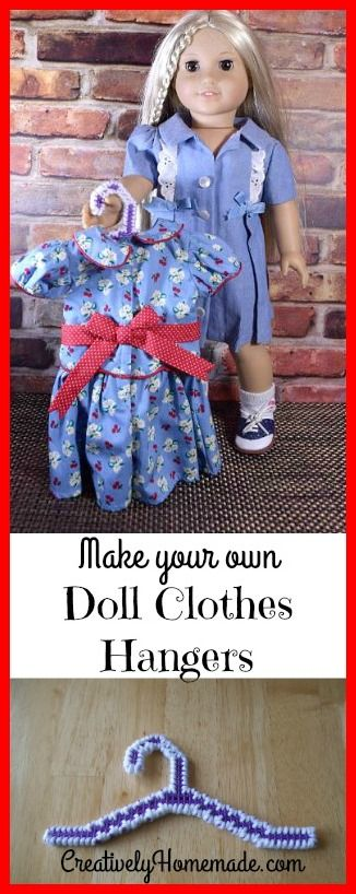 Need more hangers for your American Girl dolls? Then you will want to check out these instructions for DIY Doll Clothes Hangers for 18 inch dolls.