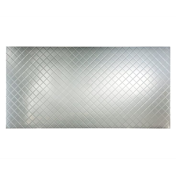 Shop Fasade  4-ft x 8-ft Quilted Wall Panel Brushed Aluminum at Lowe's Canada. Find our selection of wall panels at the lowest price guaranteed with price match + 10% off.
