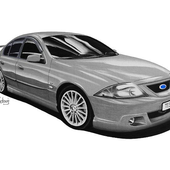 Ford FTE TE50 T3 Liquid Silver #ford #falcon #pencil #pencilsketch #artwork #drawing  #carart #cardrawings #automotiveart #australiancar