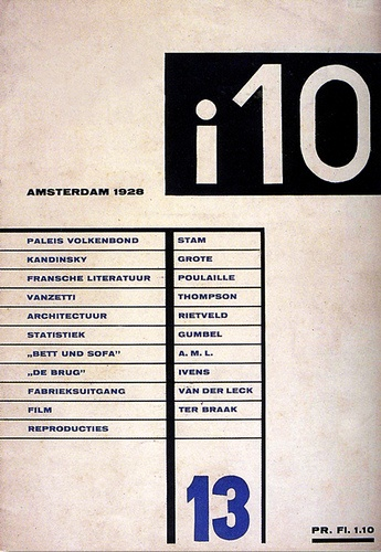 One of the editors for i10 was Moholy Nagy at this time. Cover designed by César Domela 1928.