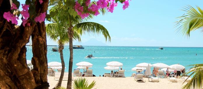 St Martin är en av de ovanligare öarna i Karibien. Här finns det milslånga, vita sandstränder, ett levande folkliv, gott om restauranger, strandpromenader, vacker natur och lockande shopping.