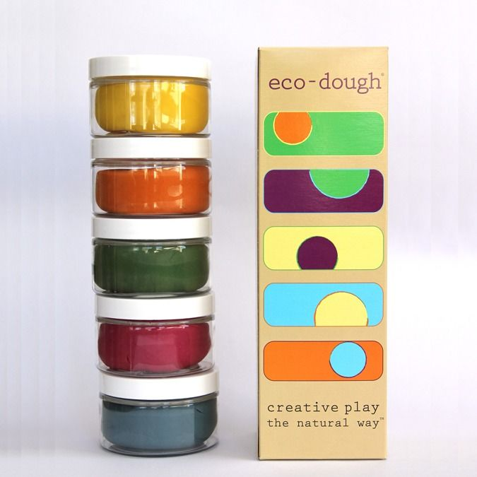 Eco dough uses all natural ingredients including plant, fruit and vegetable extracts. Essential oils keep the dough soft and pliable. #storkstack