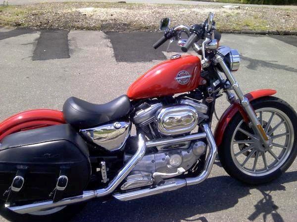 2002 Harley Davidson Sportster 883 Hugger..... And she is mine, all mine!!!