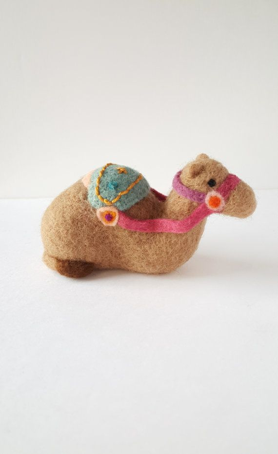 Needle Felted Decorated Camel by Woolnimals on Etsy