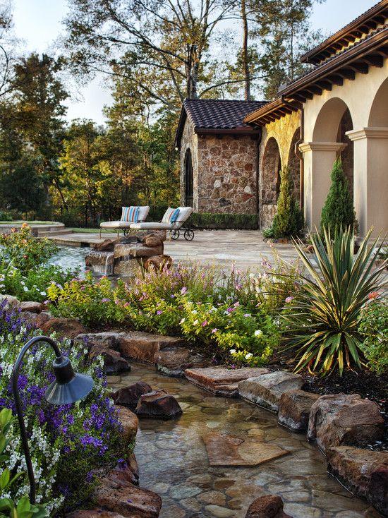 85 best tuscan decor and design images on pinterest for Tuscan landscape design