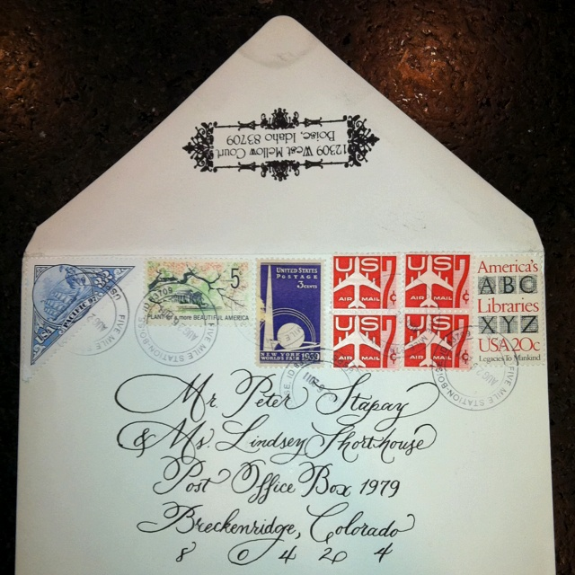 Invitation Envelope Beautiful Calligraphy And Vintage