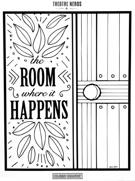 NEW! Set of 4 Hamilton Musical Themed Coloring Pages Each sheet is ...
