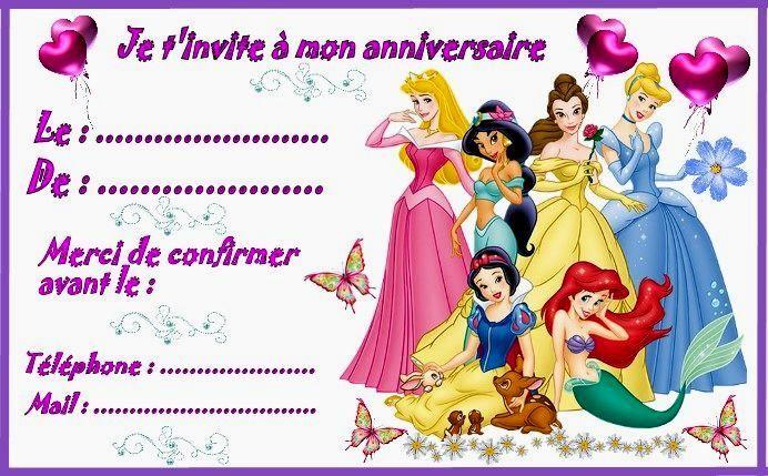 Incroyable Carte D Anniversaire Princesse Disney A Imprimer Image Invitation Anniversaire Carte Anniversaire A Imprimer Carte Anniversaire