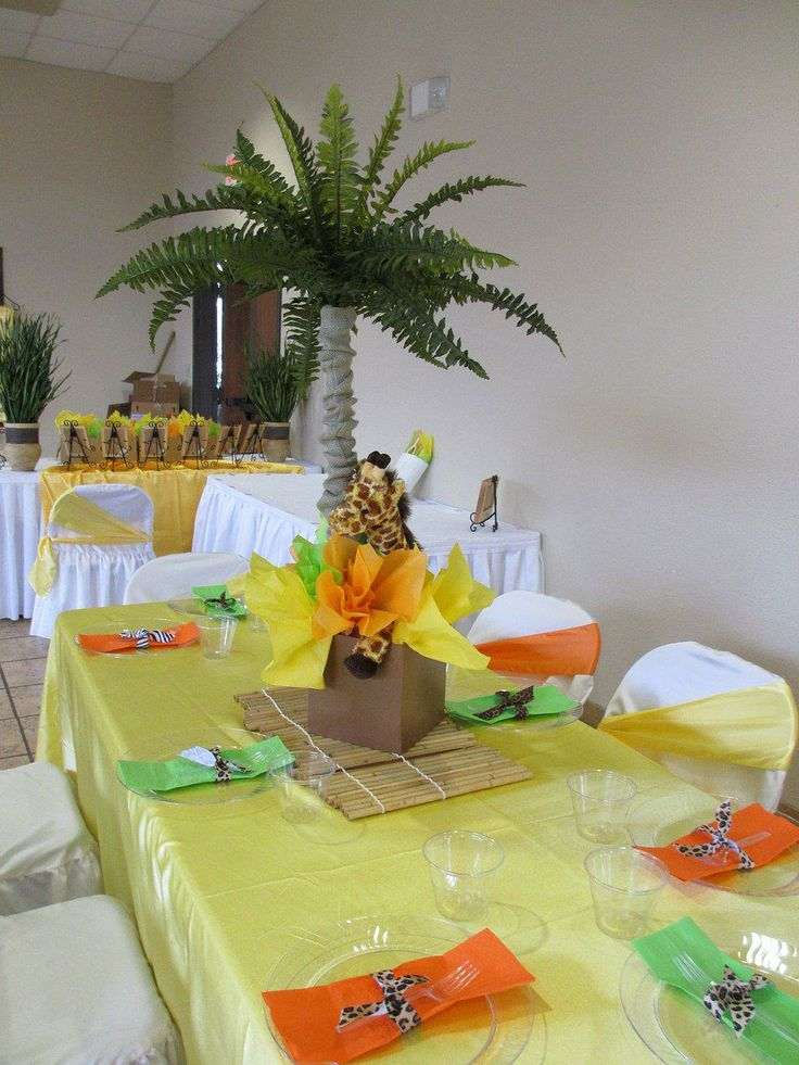 1000 ideas about safari theme centerpieces on pinterest for Baby shower decoration supplies