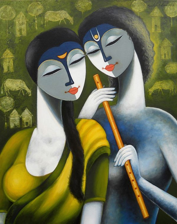 Santosh Chattopadhyay, paintings