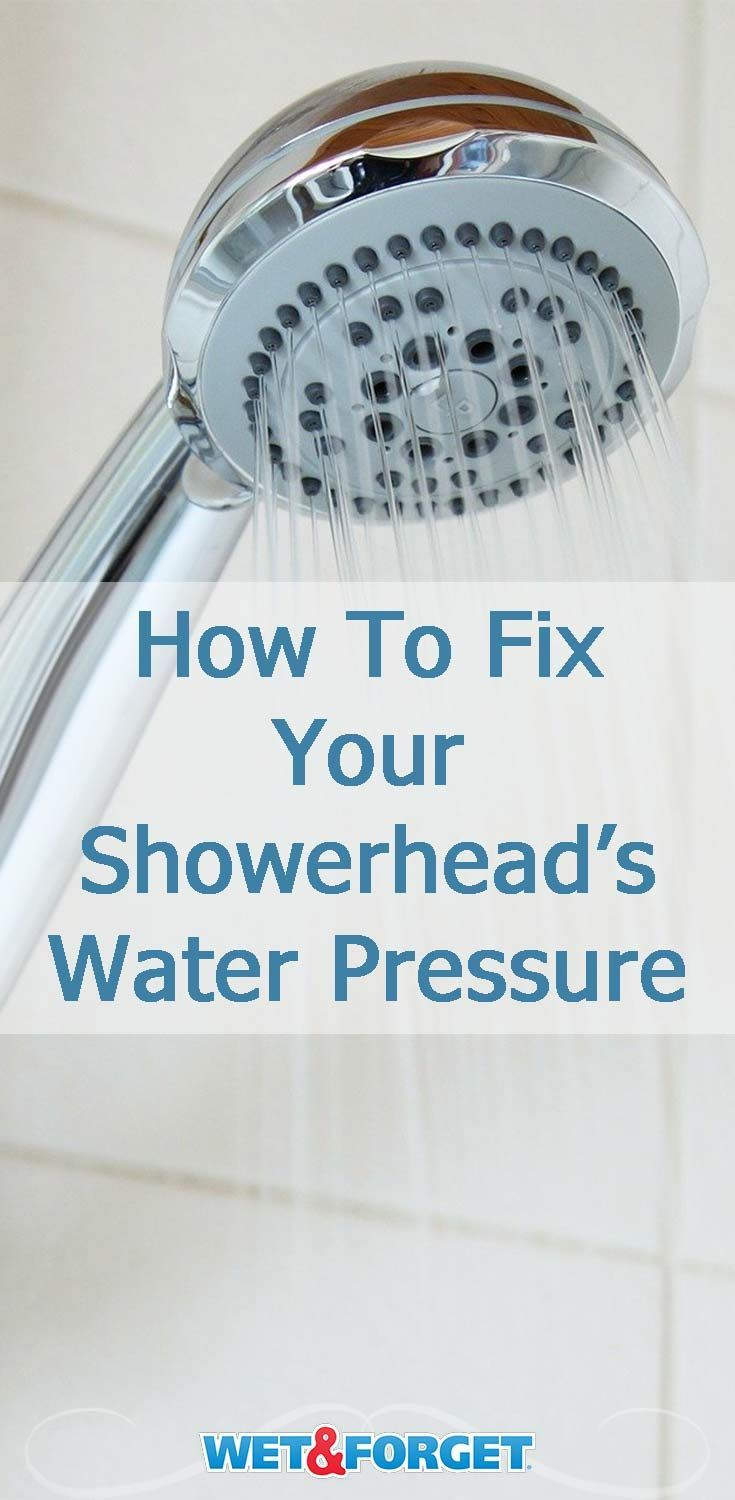 Is Your Showerhead Water Pressure Too Low Here S How To Fix It In 2020 Shower Heads Shower Head Cleaner Shower Head Diy