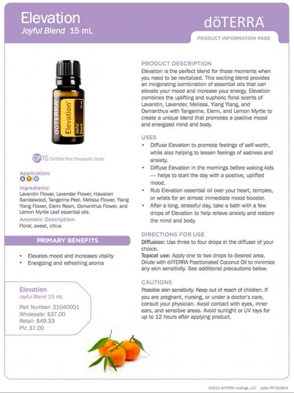Elevation giveaway! doTERRA essential oils by maryellen