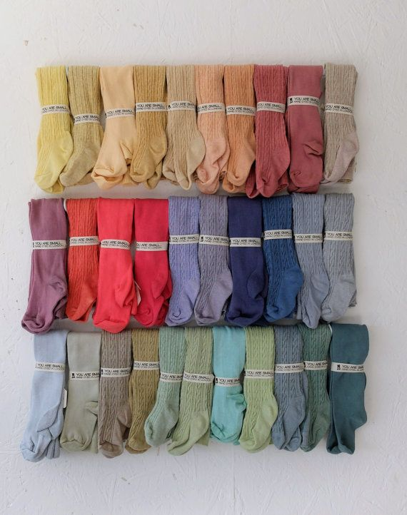 6-12 MONTHS HAND DYED baby tights in a range of beautuiful colours