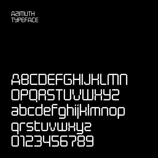 AZIMUTH TYPEFACE
