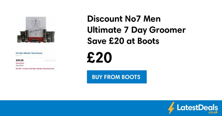 Discount No7 Men Ultimate 7 Day Groomer Save £20 at Boots, £20 at Boots