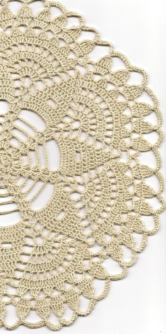 Christmas gift, Crochet doily, lace doilies, table decoration, crocheted doilie, center piece, hand made, table runner, napkin, ecru via Etsy: