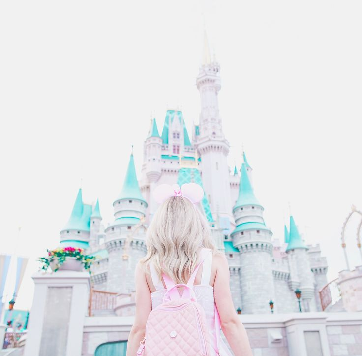 My Pretty & Pink Walt Disney World Adventures, Disneyland, disneyworld, Disney blogger, Disney style, Disney dresses, Mickey Mouse ears, dress blogger, girly girl, girl girl Adventures, Cinderella, cinderellas castle, the magic kingdom, pink Mickey ears, pink backpack, blonde hairstyles