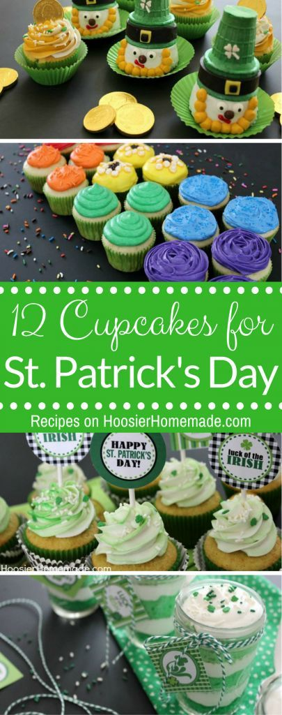 ST. PATRICK'S DAY CUPCAKES #cupcakes #stpatscupcakes #stpatricksday #easyrecipes
