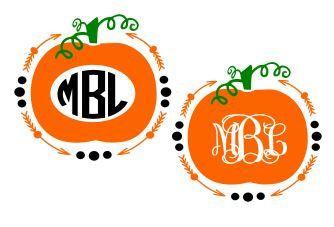 Monogram Pumpkins/Arrow Frame SVG Studio 3 by BoodlebugGraphics