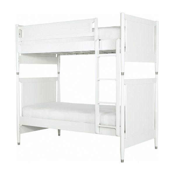 dwellstudio midcentury youth white bunk bed dwellstudio