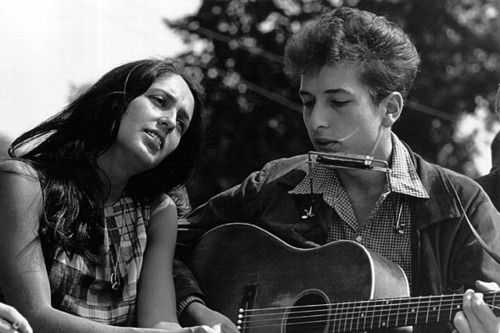 bob dylan and joan beaz