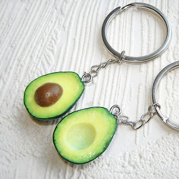 Hey, I found this really awesome Etsy listing at https://www.etsy.com/listing/216137592/best-friends-avocado-halves-key-chains