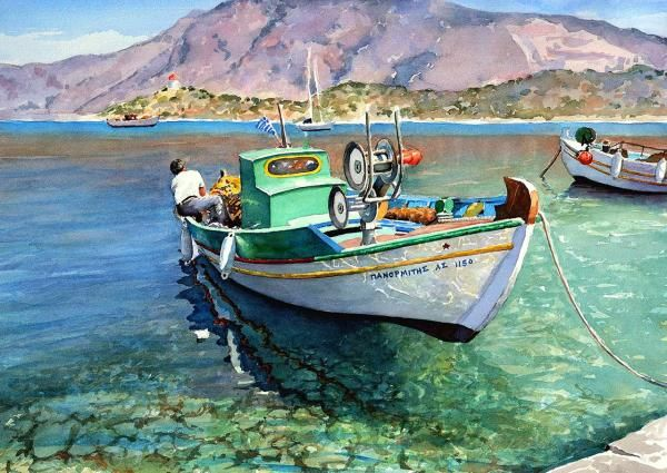 Watercolor Landscapes by Pantelis D. Zografos   Cuded
