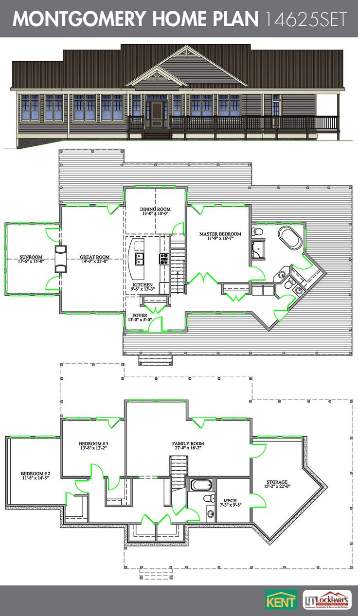 two bedroom house plans with large great room bedroom home
