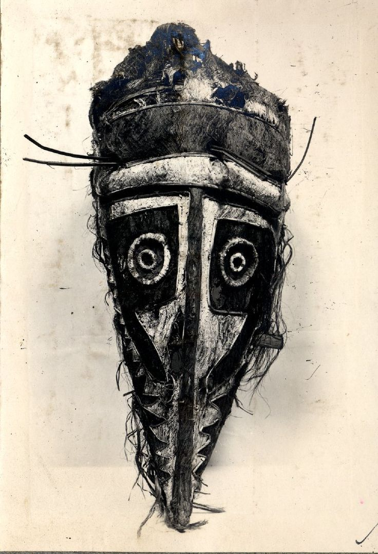 A barkcloth mask from Papua New Guinea