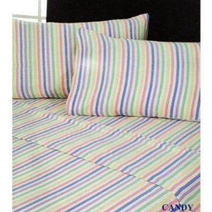 flannelette candy stripe sheets