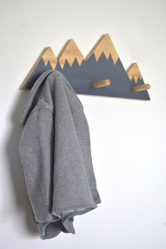 Wall Hooks For Kids Mountain Peak Wall Hanger by hachiandtegs