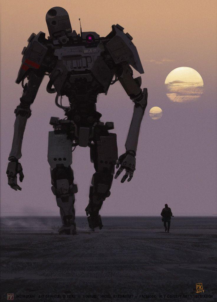 ArtStation - Sunset Robot, Miguel Iglesias