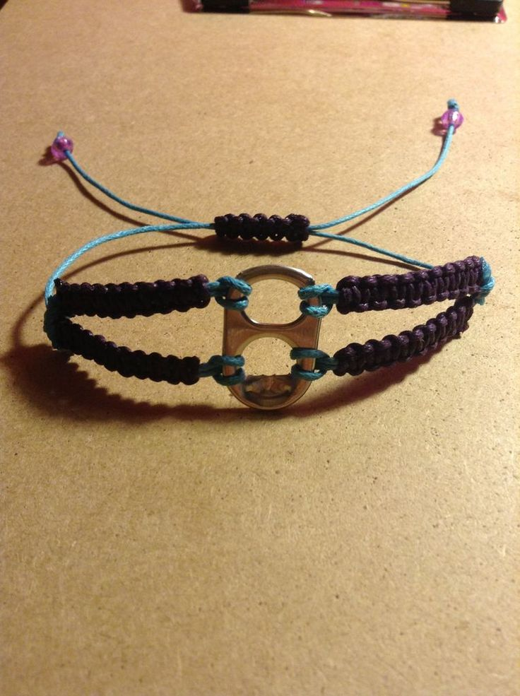 Macrame soda tab bracelet. I could do hundreds with all my tabs for mamas.