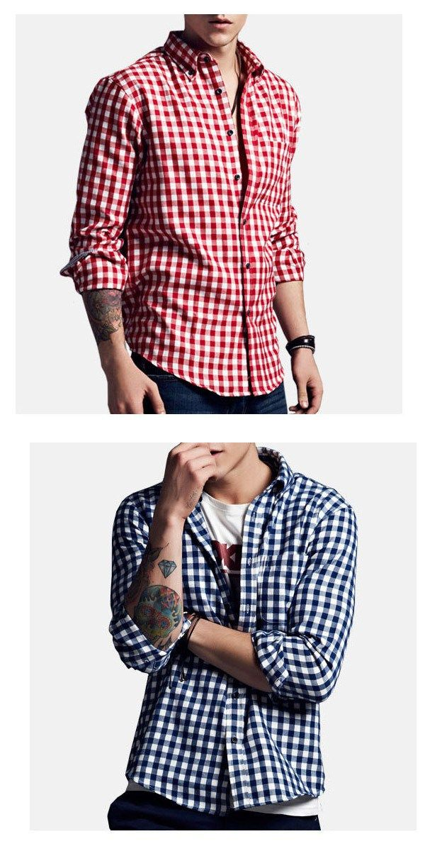 This amazing casual plaid shirt is made up of very fine polyester material making sure that you feel comfortable and good in this attire. #tshirt #poloshirt #businessshirt #casualshirt #Menshirt #menfashion
