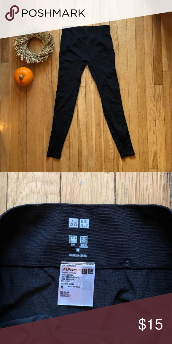 Black Uniqlo leggings Your average sport legging here - worn only once! Uniqlo is great and these are comfy for exercise or lounging around. Great price! Uniqlo Pants Leggings