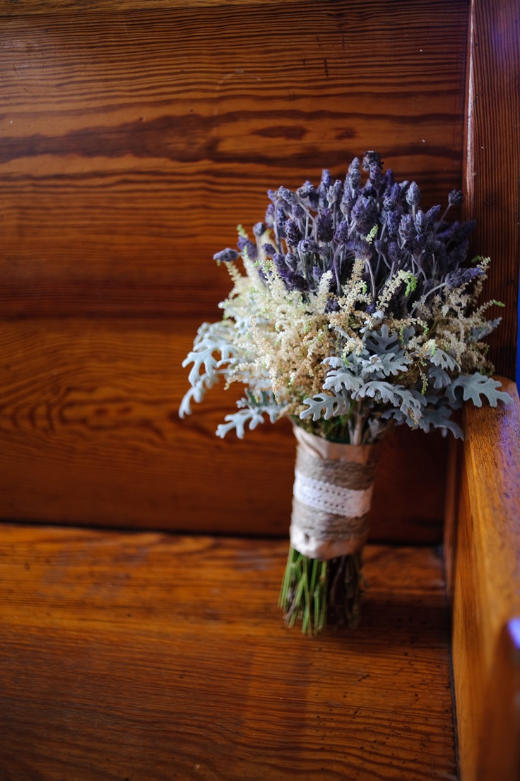 lavender, astilbe bouquet  by Bella Rosa