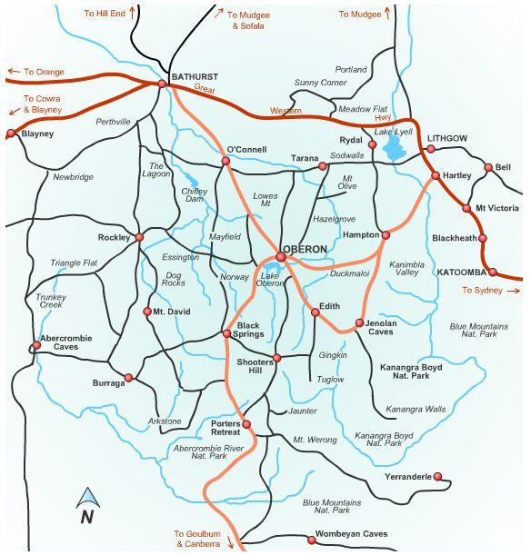 Oberon Region Map - Oberon Australia