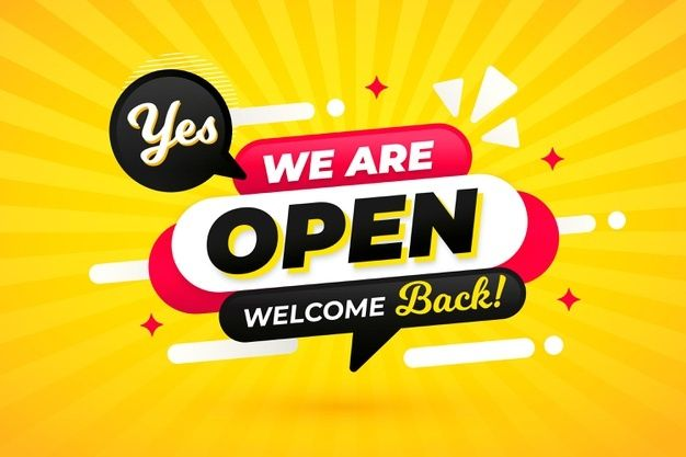 We Are Open Sign Concept We Are Open Sign Open Signs Vector Free