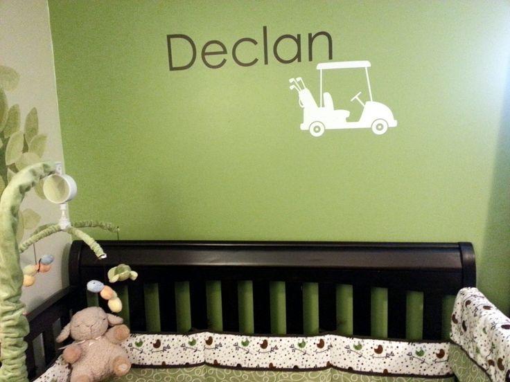 Rockin  Robin crib bedding  and customized golf decal from Elephannie on  Etsy. 60 best golf theme nursery images on Pinterest   Golf theme  Boy