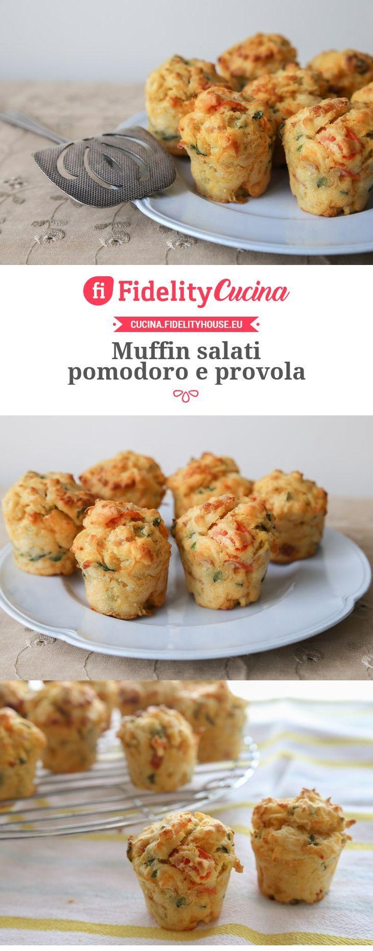 Muffin salati pomodoro e provola