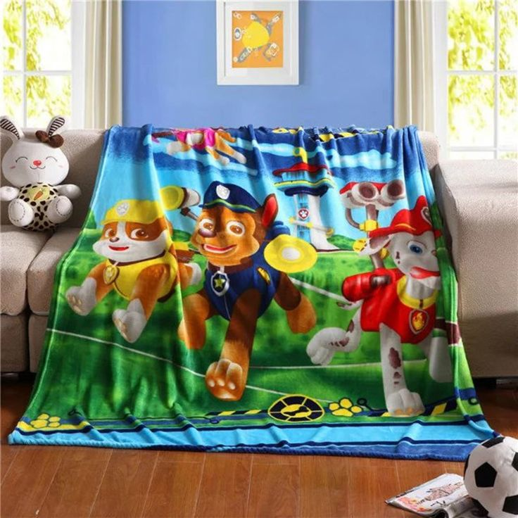 Home Textile Cartoon knitted blankets for children Baby Girl Boys paw patrol Blanket fabric100*130cm size Cartoon Child Sheet