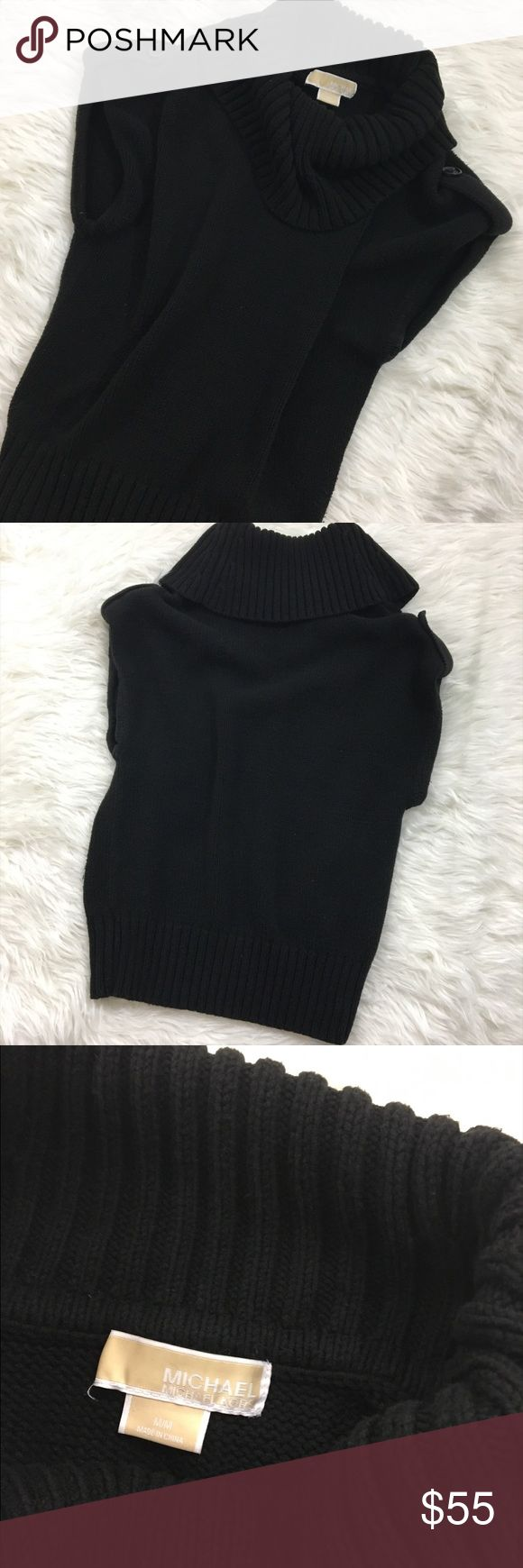 Michael Kors Sweater Vest Cozy sweater vest with a bulky neckline. It has two buttons on the shoulder part of it. Very warm. Great to layer over a solid or pattern long sleeve. In great conditions ▪Please feel free to ask questions or for additional pictures ▪Accepting private offers. Michael Kors Sweaters