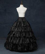 2016 hete verkoop lange gezwollen petticoat hoepelrok petticoats zwart bruiloft accessoires voor bruidsjurken(China (Mainland))