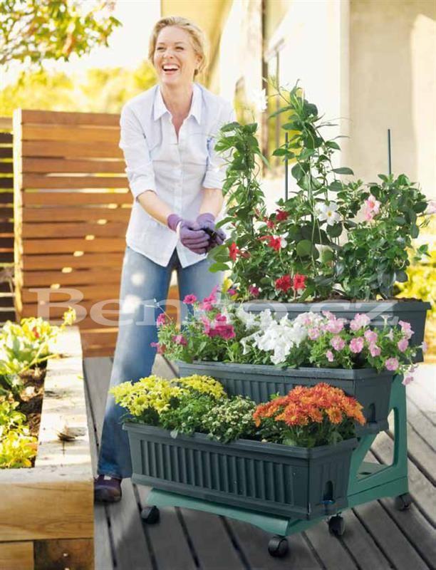 Mobilní záhrádka na balkón