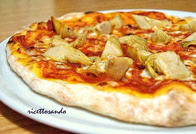 Pizza con lievito madre base. #ricetta di @luisellablog