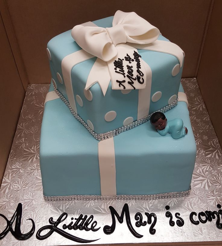 Calumet Bakery Tiffany Box Baby Shower Cake