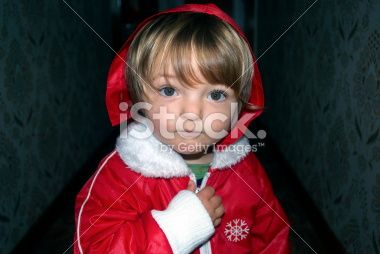 Toddler in red Hooded Jacket Royalty Free Stock Photo