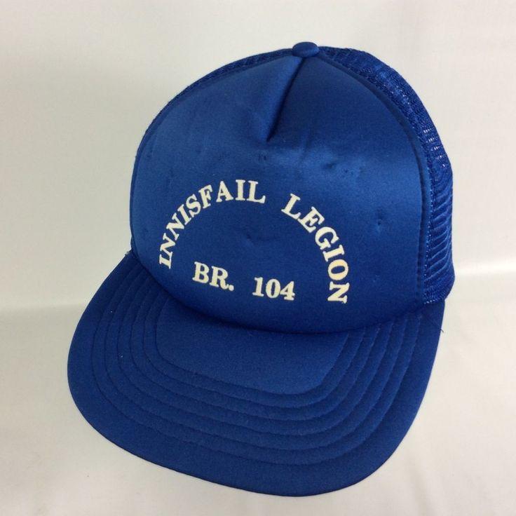 Royal Canadian Legion RCL Branch 104 Snap Back Canada VTG Trucker Hat Innisfail #Unbranded #TruckerHat