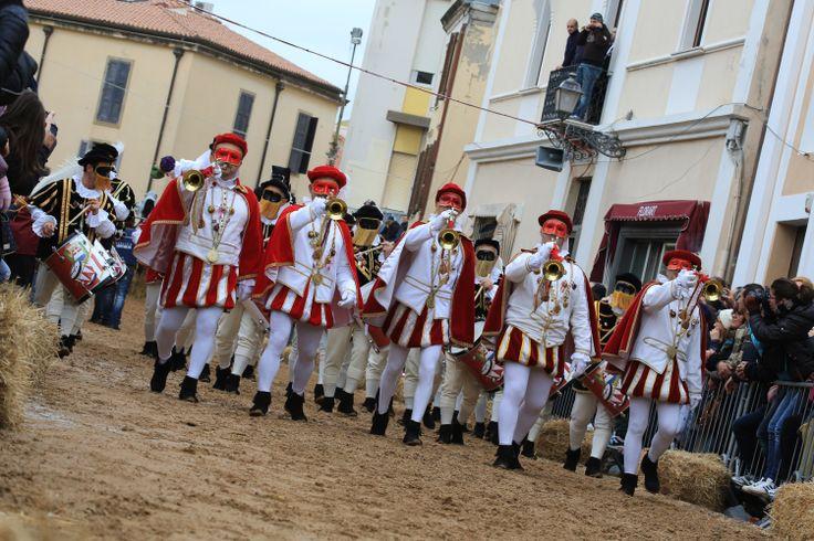 Il ritmo della #Sartiglia di #Oristano - Trombettieri - sfilata domenica 10 febbraio 2013