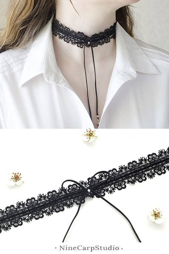 Excited to share the latest addition to my #etsy shop: Black lace choker necklace for women. Trening now fashion accessory and great romantic gift idea for woman | Handmade jewelry by NineCarpStudioStore #handmade #handmadejewelry #chokerneckalce #black #lace #choker
